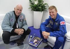 ESA astronaut Tim Peake with Apollo 15 astronaut Al Worden (europeanspaceagency) Tags: fia18 fia2018 farnborough farnboroughairshow farnboroughinternationalairshow esa europeanspaceagency space universe cosmos spacescience science spacetechnology tech technology uk timpeake astronaut astronauts alworden