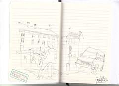 """Crok'marché-Firminy-1 ("""" Les étourderies graphiques"""") Tags: dessin croquis firminy crayon"""