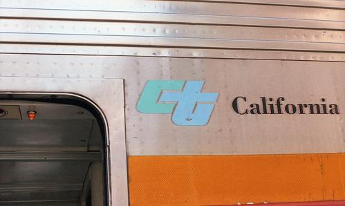 CalTrans logo on Amtrak CA car ETS 9-17 135