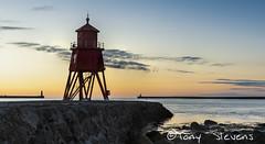 The Herd Groyne Lighthouse (snotty7) Tags: red southshields coast pier groyne dawn sunrise sea clouds lighthouse