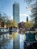 Beetham Tower reflected.jpg (Stephen B Jessop) Tags: manchester glass olympus narrowboat england beethamtower reflection brick skyscraper bridgewatercanal 2018 mill stephenbjessop em5mk2