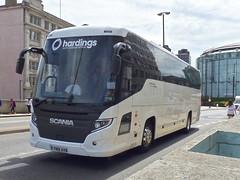 YN18AVB (47604) Tags: yn18avb hardings scania bus coach waterloo bridge betchworth