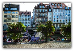 Estrasburgo, la bici. (jesus.de.leon1) Tags: alsacia france francia bicicleta flores viajes casas