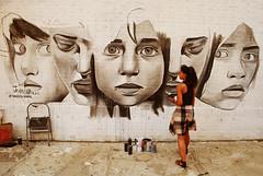 Faces (Harry Szpilmann) Tags: williamsburg street artist girl woman portrait streetart brooklyn people nyc streetphotography newyork usa naveenshakil