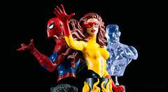 Spider-Man and His Amazing Friends | Mini Bust | Bowen Designs (leadin2) Tags: canon 2018 angelica angel jones mutant firestar fire star mini bust minibust bowendesigns bowen designs marvel comics spiderman peter peterparker parker ice man iceman bobby drake