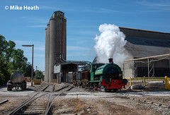 Dunlop No. 6 - Ketton Cement Works - 1 July 2018  (1) (Mike Heath Photo) Tags: hanson portland cement works 040st dunlop no6 no3 saddle tank sunshine industrial industry stamford