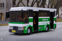Kopaja (Kamteey) Tags: lego moc render rendering blender blender3d b3d road bus local jakarta indonesia vehicle transport cad tree outdoor windshield minibus