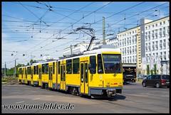 6074-2018-06-29-1-Allee der Kosmonauten-Rhinstraße (steffenhege) Tags: berlin bvg streetcar strasenbahn tram tramway ckd kt4dm kt4d 6074