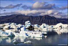 Jökulsárlón - Glacier Lagoon Iceland II (Stefan Bock) Tags: iceland sunset nature natur landscape landschaft water wasser sky himmel island outdoor jökulsárlón icebeach ice eis diamondbeach glacier