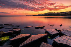 Kimmeridge Bay ([inFocus]) Tags: sunset colour colours dorset beach coast kimmeridgebay stones reflection clouds cloud landscape landscapes sea seascape jurassic canon 5dmkiv 1635mm 1635mmf28lii lee leefilters