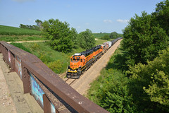 Along the Milwaukee Road in Iowa (CN Southwell) Tags: bnsf milw local freight iowa