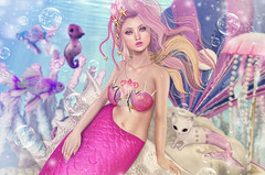 Mermaid's Tale (Gabriella Marshdevil ~ Trying to catch up!) Tags: sl secondlife cute kawaii mermaid olive catwa bento pinkfuel mudskin sorumin halfdeer pinkacid lootbox