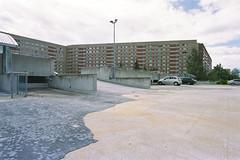 man-made (flyerkat_L.E.) Tags: concrete deserted city parking film analog kodakultramax400 nikon fm2 35mm