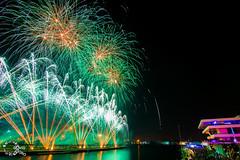 Piro-musical Feria de Julio 2018 (David Soro) Tags: fireworks fuegosartificiales fuego fuegos ricardocaballer ricasa feriadejulio 2018 noche nocturnas nocturna fotografíanocturna bulb largaexposicion valencia puertodevalencia luz color foc velesevents julio