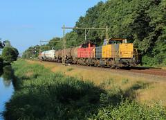DB Cargo 6461+6416-6426 @ Herfte (Sicco Dierdorp) Tags: db dbc cargo serie6400 geelgrijs 6461 unitcargo onnen kijfhoek hefte zwolle meppel omleiding ijssellijn ketelwagen keteltrein