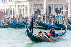 Looking for a parking place (filipmije) Tags: gondola laguna venice boat