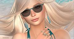 Beach Babe (Sannita_Cortes) Tags: elleboutique glamaffair ikon imageessentials lelutka maitreya petitemort posefair swank tableauvivant bikini earring fashion glasses poses posesprops summer sunglasses secondlife sl styles virtualworld virtual virtualfashion female beach ocean