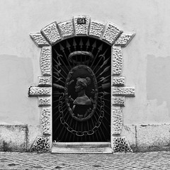 Lisbon Zoological Garden - Access door at Benfica Road (pedrosimoes7) Tags: doorswindowsworldgroupdwwg dwwg doors portas puertas portes architecture arquitectura streetphotos fotosderua iron ferro metalliic doorsandwindowsaroundtheworld ✩ecoledesbeauxarts✩