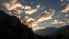 Sunset over the Carbon River Valley (rich trinter photos) Tags: ipsutcreekcampgrounds mountrainier washington unitedstates us landscape carbonriver trinterphotos richtrinter northwest
