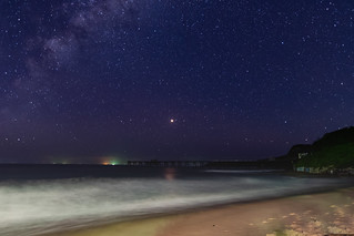 Starry, staryy night at Catherine Hill Bay