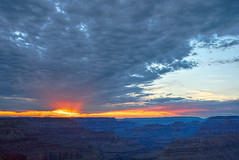 DSC_0443-445 hermits rest monsoon at sunset hdr 850 (guine) Tags: grandcanyon grandcanyonnationalpark canyon rocks clouds storm monsoon sunset hdr qtpfsgui luminance