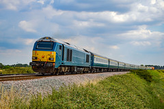 67002 + 67020 - Ely West Junction - 14/07/18. (TRphotography04) Tags: db cargo uk atw blue 67002 ews liverid 67020 pass second drove footcrossing working the gin train operated by rail road events 1z40 1632 ely peterborough pair worked stop shuttles from three times taken 1640