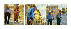 Rubielos de Mora. Teruel. Spain. (COLINA PACO) Tags: oldpeople gentedicittà gensdesvilles gente people rubielosdemora teruel spain spagna españa espagne franciscocolina fotomanipulación fotomontaje photoshop photomanipulation