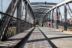 Run, run as fast as you can (Maisiebeth) Tags: running mersey bridge jogging heat pinkvest
