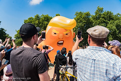 Anti-Trump Carnival of Resistance, central London July 13th 2018 (pixiemushroom) Tags: donald trump carnival resistance london july 13 2018 demo demonstration march nikon d750 sigma 2470mm 28 f28 baby phones smartphones cameras