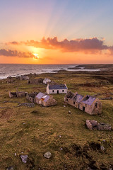 """The Ghost Island of Inishsirrer"" (Gareth Wray - 10 Million Views, Thank You) Tags: ireland historic history building natural old rural abandoned gareth wray photography summer landscape landmark tourist tourism scenic visit sight irish county stone rock architecture walls sunset dji phantom 4 four drone quadcopter ruin seascape ocean donegal atlantic sea derrybeg bunbeg gweedore bloody foreland famine farm view traditional heritage coast wild way coastal sun clouds island town ghost settlement village dry innishirrer shore seaside beach water inishsirrer barony aerial ruins ancient uav p4"