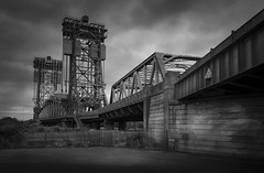 The Tees Newport Bridge (Brad@Shaw) Tags: bridge teesside tees rivertees architecture mono monochrome blackwhite blackandwhite grey greatbritain cloudy dark northeastengland canon canonef24105mmf4lisusm 5dmkiv 5d4