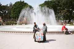 A Day in the Park Los Angeles (susan catherine) Tags: leica m6 losangeles fountain vendor icecream