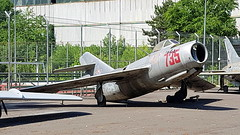 """Mikoyan-Gurevich Mig.15 (S-102) c/n 231735 Romania Air Force serial 735 preserved at the """"Aviation Technical College"""" in Bucharest - Baneasa (Erwin's photo's) Tags: mikoyangurevich mig15 s102 cn 231735 romania air force serial 735 preserved aviation technical college bucharest baneasa"""
