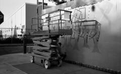 Waverly Street and Flushing Avenue (neilsonabeel) Tags: nikonactiontouch nikon film analogue blackandwhite brooklyn newyorkcity streetart mural
