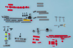 Space Battleship Yamato instructions 01 (Tino Poutiainen) Tags: lego legomoc legobuild blazers scale instructions scifi ship space star stand yamato photography photograph picture anime japan