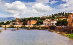 Firenze (mikael_blue) Tags: florence italy arno tuscany firenze italia toscana canon river bridge buildings sky