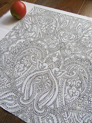 william-morris-style-print-designed-by-Paisley-Power (Paisley Pat) Tags: fabric swatch linear textile textiledesign design designer printed printedtextile printdesign paisley paisleyprint paisleypattern