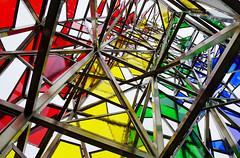- Looking Up - (Jacqueline ter Haar) Tags: sculpture airport iceland keflavik colourful ruri rainbow couleurs kleuren