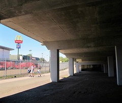 Underneath the arches (S Clark) Tags: underneaththearches goldenarches mcdonalds fastfood urbanstories urban urbanlife streetlife street streetphotography londonstreet plumstead se18 sei8stories underpass summer hotinthecity city londoncity london londonist southeastlondon canon canonpowershotg12 plumsteadbusgarage