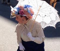 Sunday Bonnet .... (Mr. Happy Face - Peace :)) Tags: woman bonet stampede yyc calgary paradeday lady hat umbrella art2018