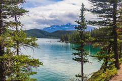 Postcard from Banff, Lake Minnewanka (kensparksphoto) Tags: banff canada lakeminnewanka scenery scenic mountains trees pine water reflection alberta