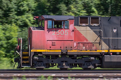 Canadian Cab (Joseph Bishop) Tags: cn 2505 ge c449lw cndundassubdivision copetown trains train track tracks railfan railroad railway rail rails pan