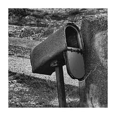 Last post- (Martyn.A.Smith LRPS) Tags: metalwork postbox stonework pillar outdoors monochrome old fujifilm xt2