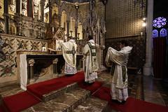 Rosary Shrine Vestments II (Lawrence OP) Tags: rosaryshrine london stdominics vestment highmass marian comper jay marisstellavestments