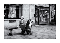 Passive, elle est pensive ! (bertranddorel) Tags: bw blackandwhite bnw bretagne biancoenero blancoynegro blancetnoir bench banc batiment contrast city ciutad d7000 chapeau children europe enfant commerce france femme face famille gens girl human holidays house hombre intramuros light lumière life lignes mono monochrome monocromo maison noiretblanc nb nikon nikkor noir ngc nero negro people personne portrait pavés rue street streetphoto saintmalo town travel urban ville vie