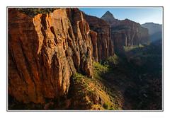 Sunset in Zion Canyon (JohnKuriyan) Tags: utah zion national park canyon overlook