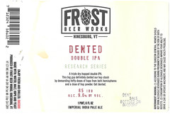 DENTED by Christina Frost for Frost Beer Works (Label_Craft) Tags: beer beers craftbeer labels craft labelcraft beerlabel design illustration type fonts burp beerme brew suds brewery frost frostbeerworks hinesburg vermont vt dented dipa