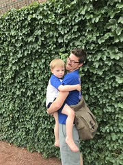 """Paul with Adam at Cubs Family Day • <a style=""""font-size:0.8em;"""" href=""""http://www.flickr.com/photos/109120354@N07/29259177598/"""" target=""""_blank"""">View on Flickr</a>"""
