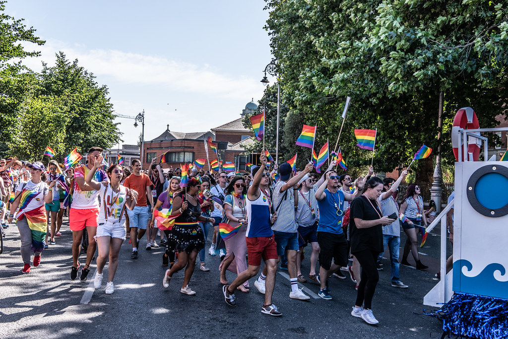 ABOUT SIXTY THOUSAND TOOK PART IN THE DUBLIN LGBTI+ PARADE TODAY[ SATURDAY 30 JUNE 2018] X-100166