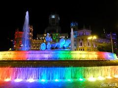 Cibeles engalanada de Luz (BorFm88) Tags: madrid cibeles fuentedecibeles ayuntamiento noche luces iluminación arcoiris orgullo2018 venturarodríguez